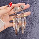 ieftine Cercei-Pentru femei Alb Zirconiu Cubic diamant mic Cercei Picătură Lung European De Fiecare Zi Iced Out Ștras Placat Auriu cercei Bijuterii Auriu Pentru Stradă 1 Pair