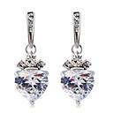ieftine Cercei-Pentru femei Transparent Cristal Cercei Picătură Transparent Inimă Modă Modern Elegant Diamante Artificiale cercei Bijuterii Argintiu Pentru Zilnic Oficial 2pcs