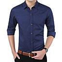 رخيصةأون ساعات الرجال-رجالي عمل الأعمال التجارية / أساسي قميص, منقط ياقة مفرودة / كم طويل / الربيع / الخريف
