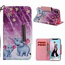 رخيصةأون أغطية أيفون-غطاء من أجل Apple iPhone XS / iPhone XR / iPhone XS Max محفظة / حامل البطاقات / ضد الصدمات غطاء كامل للجسم فيل قاسي جلد PU