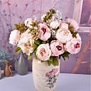 رخيصةأون أزهار اصطناعية-زهور اصطناعية 1 فرع كلاسيكي أوروبي Wedding Flowers الفاوانيا أزهار الطاولة