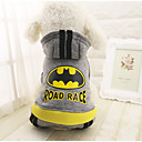cheap Dog Clothing & Accessories-Dog Coat Hoodie Jumpsuit Dog Clothes Letter & Number Gray Cotton Costume For Spring &  Fall Winter Casual / Daily