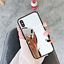 abordables Coques d'iPhone-Coque Pour Apple iPhone XR / iPhone XS Max Miroir Coque Couleur Pleine Dur Acrylique pour iPhone XS / iPhone XR / iPhone XS Max