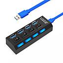 billige USB-hubs og kontakter-USB 3.0 to USB 3.0 USB Hub 4 Havne Højhastighed / Med kontakt (er)