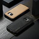 رخيصةأون جسم السيارة الديكور والحماية-غطاء من أجل Samsung Galaxy S7 ضد الماء / ضد الصدمات / اصنع بنفسك غطاء خلفي لون سادة قاسي جلد PU