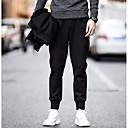 رخيصةأون سترات و بدلات الرجال-رجالي أناقة الشارع قياس كبير مناسب للبس اليومي تشينوز بنطلون - لون سادة أسود XXXL XXXXL 5XL