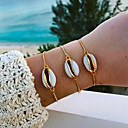 رخيصةأون خلخال-نسائي أسورة قشرة بوكا شل أنيق بسيط مجوهرات هاواي سبيكة مجوهرات سوار ذهبي من أجل مناسب للبس اليومي