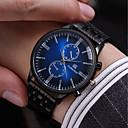 お買い得  メンズ腕時計-男性用 ブレスレットウォッチ クォーツ ステンレス ブラック 30 m 耐水 新デザイン カジュアルウォッチ ハンズ ヴィンテージ ファッション - ブラック レッド ブルー
