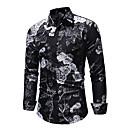 رخيصةأون قمصان رجالي-رجالي مقاس أوروبي / أمريكي قميص, ورد نحيل / كم طويل
