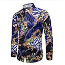 رخيصةأون بولو رجالي-رجالي قميص, هندسي ياقة كلاسيكية