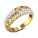 Χαμηλού Κόστους Μοδάτο Κολιέ-Γυναικεία Λευκό Cubic Zirconia Δακτύλιος Δήλωσης Δαχτυλίδι Επιχρυσωμένο Λουλούδι Μοντέρνο Στυλάτο Πολυτέλεια Ευρωπαϊκό Μοδάτο Δαχτυλίδι Κοσμήματα Κίτρινο Για Γάμου Πάρτι Δώρο Ημερομηνία 6 / 7 / 8 / 9