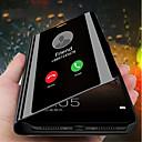 お買い得  Samsung 用スクリーンプロテクター-ケース 用途 Huawei Huawei Mate 20 / Huawei Mate 20X スタンド付き / メッキ仕上げ / ミラー フルボディーケース ソリッド ハード PUレザー のために Mate 10 / Mate 10 pro / Huawei Mate 20 pro