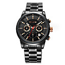 cheap Men's Watches-SKONE Men's Dress Watch Japanese Japanese Quartz Stainless Steel Black / Silver 30 m Calendar / date / day Casual Watch Analog Fashion - Gold Black Black / Rose Gold Two Years Battery Life