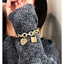 preiswerte Mehrreihen Halskette-Damen Armband Armband mit Anhänger Klassisch Kostbar Verriegelung Romantisch Modisch Aluminium Armband Schmuck Gold / Silber Für Geschenk Zeremonie Party Verabredung Festival / Perlen / Perlen