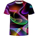 economico T-shirt e canotte da uomo-T-shirt Per uomo Essenziale / Moda città Con stampe, Fantasia geometrica / 3D Rotonda Arcobaleno XXXXL / Manica corta / Estate