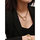 Χαμηλού Κόστους Μοδάτο Κολιέ-Γυναικεία Κολιέ Τσόκερ Κρεμαστά Κολιέ Κρεμαστό Χρυσό Ασημί 40 cm Κολιέ Κοσμήματα 1pc Για Δώρο Καθημερινά Ημερομηνία Δρόμος Φεστιβάλ