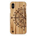 رخيصةأون خواتم-غطاء من أجل Apple iPhone XS / iPhone XR / iPhone XS Max مطرز غطاء خلفي نموذج هندسي قاسي خشبي