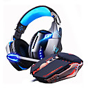 billige Headset og hovedtelefoner-LITBest Gaming Headset Ledning Gaming Nej Lydaktiverede LED-lys
