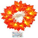 رخيصةأون سلاسل المفاتيح-1 مجموعة 20 المصابيح سلسلة ضوء أحمر مابل ليف الدعائم مابل ليف ليلة ضوء الشكر عطلة المنزل الديكور بطارية مربع
