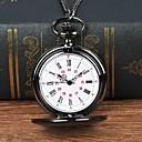 رخيصةأون ساعات الرجال-رجالي ساعة جيب كوارتز أسود ساعة كاجوال طرد كبير مماثل كاجوال موضة - أسود