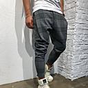 ieftine Pantaloni Bărbați-Bărbați Exagerat Mărime EU / US Pantaloni Chinos / Pantaloni Sport Pantaloni - Imprimeu Sport / Harem Gri Roșu Vin Verde Militar XL XXL XXXL / Elasticity