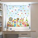 رخيصةأون الستائر-نافذة فيلم الرسوم المتحركة&أمبير. ملصقات الديكور 3D / بولي كلوريد الفينيل الهندسية المعاصرة (البولي فينيل كلورايد) المضادة للوهج / ملصقا نافذة