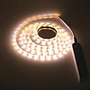 Χαμηλού Κόστους Φωτολωρίδες LED-2m ασύρματο αισθητήρα κίνησης pir οδήγησε ντουλάπι ντουλάπι νύχτα 5v 2835 led ταινία aaa μπαταρία δύναμη ευέλικτο φωτισμό λαμπτήρα 5v