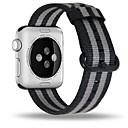 رخيصةأون أساور ساعات هواتف أبل-حزام إلى Apple Watch Series 4/3/2/1 Apple بكلة كلاسيكية نايلون شريط المعصم