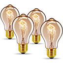abordables Bombillas Incandescentes-4pcs 40 W E26 / E27 A60(A19) Blanco Cálido 2300 k Retro / Regulable / Decorativa Bombilla incandescente Vintage Edison 220-240 V