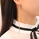 povoljno Naušnice-Žene Viseće naušnice Poveznica / lanac Jednostavan Klasik Naušnice Jewelry Zlato / Pink Za Party Jabuka Festival 1 par