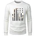 billige Headset og hovedtelefoner-Rund hals Herre - Ensfarvet / Grafisk / Dyr Bomuld, Jacquard EU / US størrelse T-shirt Blå XL