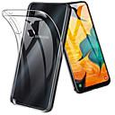 رخيصةأون إكسسوارات سامسونج-غطاء من أجل Samsung Galaxy A6 (2018) / A6+ (2018) / Galaxy A7(2018) ضد الصدمات / نحيف جداً / شفاف غطاء خلفي لون سادة ناعم TPU