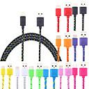 ieftine Cabluri & Adaptoare-Micro USB Cablu Împletit / Rapidă încărcare Material de construcții Adaptor pentru cablu USB Pentru Macbook / iPad / Samsung