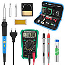 cheap Soldering Iron & Accessories-Adjustable Temperature Soldering Iron Set With Switch Multimeter Welding Tool Set 60W Repair Kit