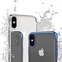 رخيصةأون أغطية أيفون-غطاء من أجل Apple iPhone XS / iPhone XR / iPhone XS Max ضد الصدمات / تصفيح / شفاف غطاء خلفي لون سادة / شفاف ناعم TPU