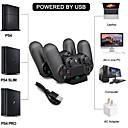 رخيصةأون اكسسوارات PS4-PS4 شاحن وحدة تحكم مزدوجة USB شحن شاحن قاعدة شاحن مجموعات