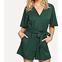 billige Fiskespoler-Dame Grunnleggende Grønn Sparkedrakter, Stripet M L XL
