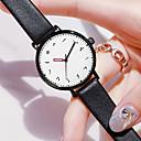 ieftine Ceasuri Damă-Pentru femei Quartz Quartz Stl PU piele Negru 30 m Rezistent la Apă Ceas Casual Analog Modă - Alb Negru Un an Durată de Viaţă Baterie
