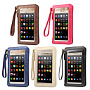 cheap Universal Cases & Bags-6.3 inch Case For Universal with Windows / Card Holder Pouch Bag Solid Colored Soft PU Leather