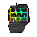 cheap Mouse Keyboard Combo-LITBest K15 USB Wired Gaming Keyboard Mini Size Gaming Multicolor Backlit 35 pcs Keys