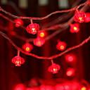ieftine Perne-6,8 Fâșii de Iluminat 30 LED-uri Roșu Solar / Decorativ Λειτουργεί με Ηλιακή Ενέργεια 1set