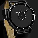 ieftine Ceasuri Bărbați-Bărbați Ceas Elegant Quartz Piele Negru / Alb Ceas Casual Analog Modă minimalist Ceas simplu - Alb Negru Negru / Alb Un an Durată de Viaţă Baterie / Oțel inoxidabil
