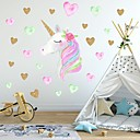ieftine Împachetare Bijuterii & Ecrane-creativ pentru copilarie autocolant unicorn cu pvc autocolante decorative pentru perete - autocolante pentru pereți animale animale pentru copii / grădiniță