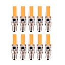 ieftine Becuri LED Corn-YWXLIGHT® 10pcs 3 W Becuri LED Bi-pin 200-300 lm E12 T 1 LED-uri de margele COB Intensitate Luminoasă Reglabilă Alb Cald Alb Rece 220 V 110 V