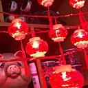 baratos Fitas e Mangueiras de LED-6 * 4m Cordões de Luzes 20 LEDs Vermelho Decorativa Alimentado por Energia Solar 1conjunto