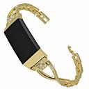 رخيصةأون أساور ساعات FitBit-حزام إلى Fitbit Charge 3 فيتبيت تصميم المجوهرات معدن / ستانلس ستيل شريط المعصم