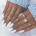 olcso Divat nyaklánc-Női Gyűrű / Gyűrű készlet / Midi gyűrűk 13db Arany Ötvözet Napi / Fesztivál Jelmez ékszerek