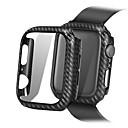 abordables Correas para Apple Watch-Marco de protección de caja de PC de líneas de fibra de carbono ultra delgadas para serie de relojes de Apple 4 3 2 1