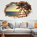 ieftine Acțibilde de Decorațiuni-copaci creativi de plajă de nucă de cocos pe pereți autocolante - cuvinte&ampamp citate autocolante perete caractere cameră de studiu / birou / sufragerie / bucătărie
