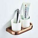 economico Gadget per il bagno-Porta spazzolini Creativo Moderno / Modern Ottone / Ceramica 1pc - Bagno / Bagno dell'hotel Montaggio su parete